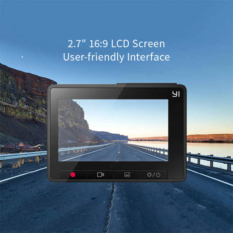 """יי דאש מצלמה 2.7 """"מסך מלא HD 1080P 165 תואר רחב זווית רכב DVR רכב דאש מצלמת עם G-חיישן ראיית לילה"""