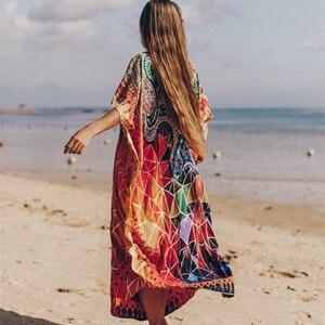 Image 2 - PlusขนาดBeach Maxi Dress Cover Upชุดว่ายน้ำSalida De Playa Kaftan Beachชุดว่ายน้ำCover Up Playeros