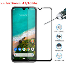 Tempered Glass For xiaomi a3 Mi a3 mia3 full cover screen protector film for Xiaomi a3 lite light Mi A3 lite protective glass n11p gv2h a3