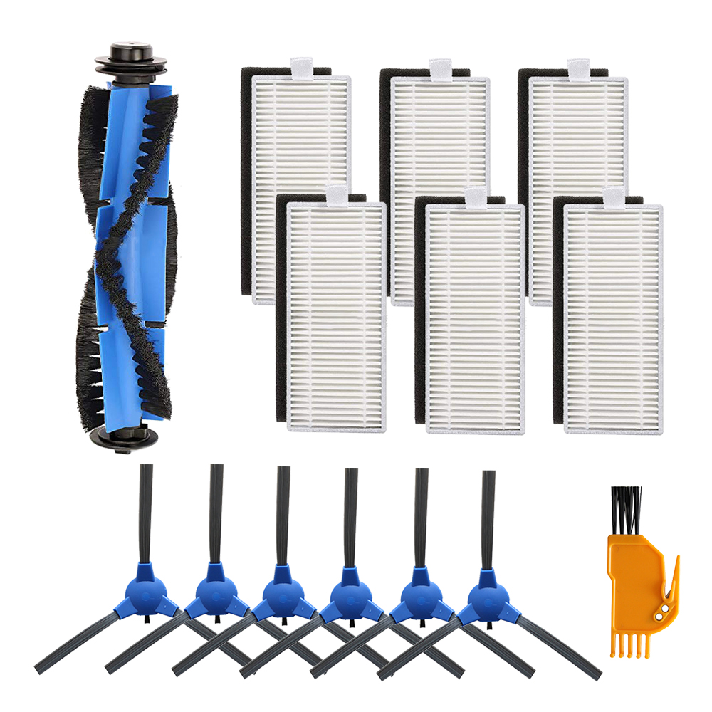 14Pcs Vacuum Accessories Filters Brushes Replacement Kit Compatible For Eufy Robovac 11S 30 30C 15C 12