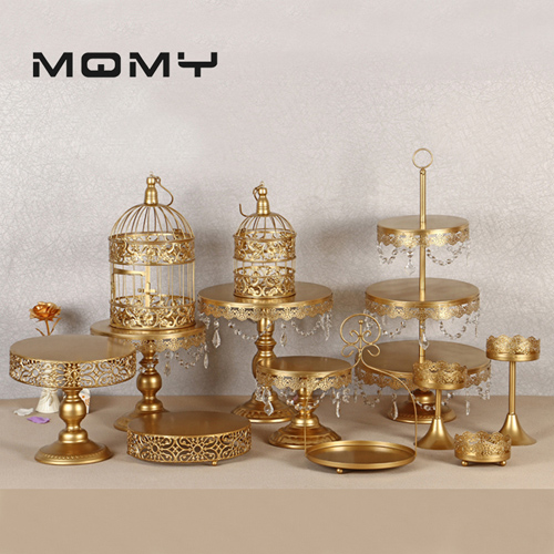 Magnificent Crystal Metal Cake Stand Holder 7 16 Pcs Set Cupcake Serving Stand Funny Birthday Cards Online Fluifree Goldxyz