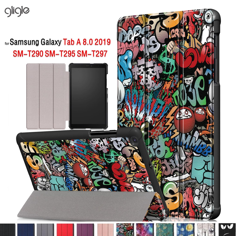 GLIGLE кожаный чехол для Samsung Galaxy Tab A 8,0 2019 SM-T290 T295 T297 Tablet крышка корпуса
