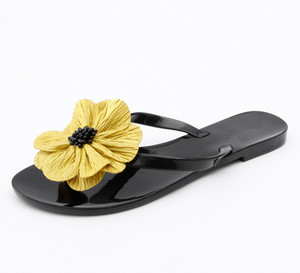 Image 5 - BEYARNE Koreanische stil, Mode, frau gelee strand sandalen dame flip flops flache regen rutschen bowtie frauen sommer Hausschuhe schuhe 36  41