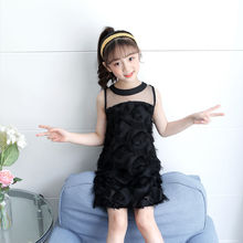 Girls Summer Clothing Dress 2020 Feather Mesh Kids Chiffon Dresses Girl Children Princess Party Clothing 8 10 12 14 years dresses for girls of 12 years old girls summer dress children puff yarn princess dress baby girl clothing for age 8 10 12 14