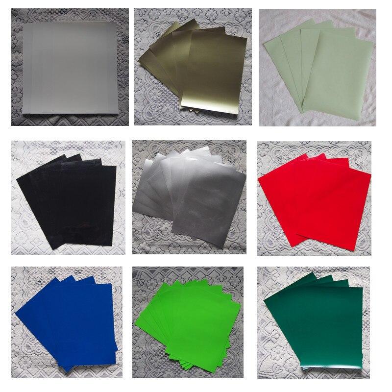 (A4*8sheets) Pu Flex Heat Transfer Vinyl Paper Printable Color Hear Transfer Film Cuttable Pu Flex With Glue For Tshirt Clothes