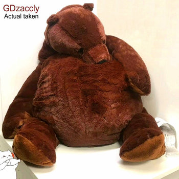1M Big Simulation Brown Bear Plush Toy Stuffed Animal Giant Mr.Boss Teddy Bear Plush Doll Pillow Soft Cushion Kids Birthday Gift hot new lovely giant american bear plush toy stuffed animals teddy bear doll pillow kids girls popular valentine birthday gift
