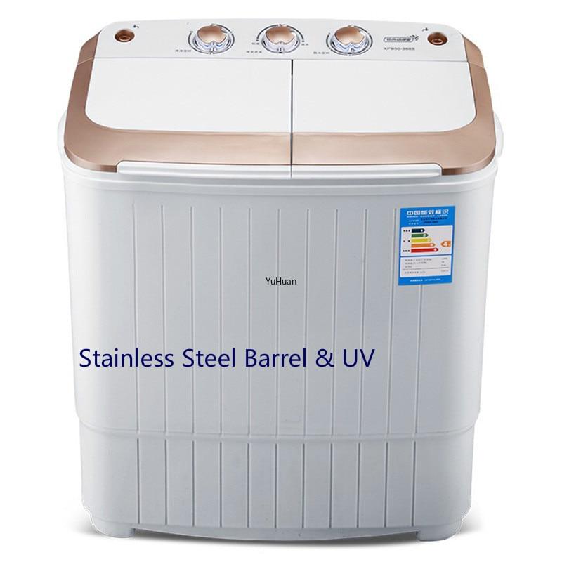 Double Barrel  UV  Mini Washing Machine UV Stainless Steel Barrel Washing Machine  Portable Washing Machine  Washer And Dryer