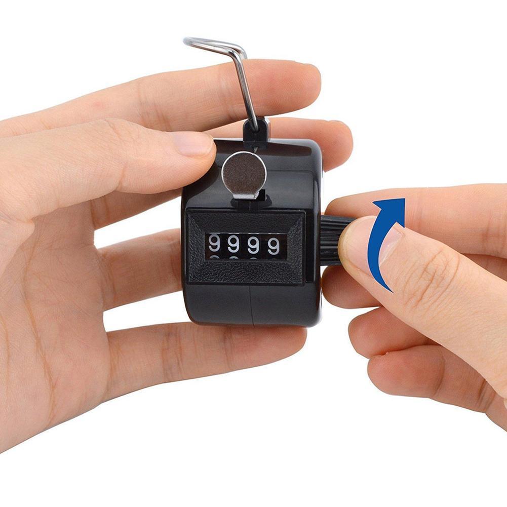4-значный механический счетчик от 0000 до 9999 4-значный номер ручной механический ручной счетчик для занятий спортом бегом ногами
