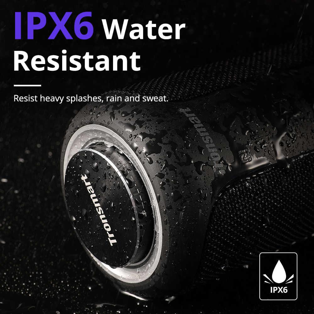 Tronsmart T6 Plus Ditingkatkan Edisi Bluetooth 5.0 Portable Speaker Sampai dengan 40W Power, 360 ° Surround Sound, IPX6 Tahan Air, NF