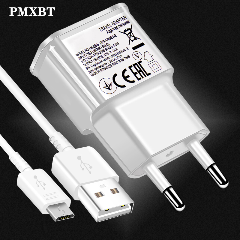 for Samsung Charger Adaptive Fast Charger adapter USB Micro cable For a8 a7 A6 a5 A9 C5 C7 Note 2 4 5 J3 J5 2017 J7 S6 7 edge S4 image