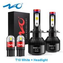 ナオH7 led H4 H11 HB4 9006 9005 HB3 H1 H8車ヘッドライト電球cob smd 6000 18kホワイト30ワット12v H3 H13 9007 9004自動車の付属品