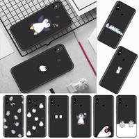 Cartoon animali pinguino bella custodia per telefono per Xiaomi Redmi mi note max 3 5 6 8 9 10 t S SE lite pro custodia morbida in Silicone Funda