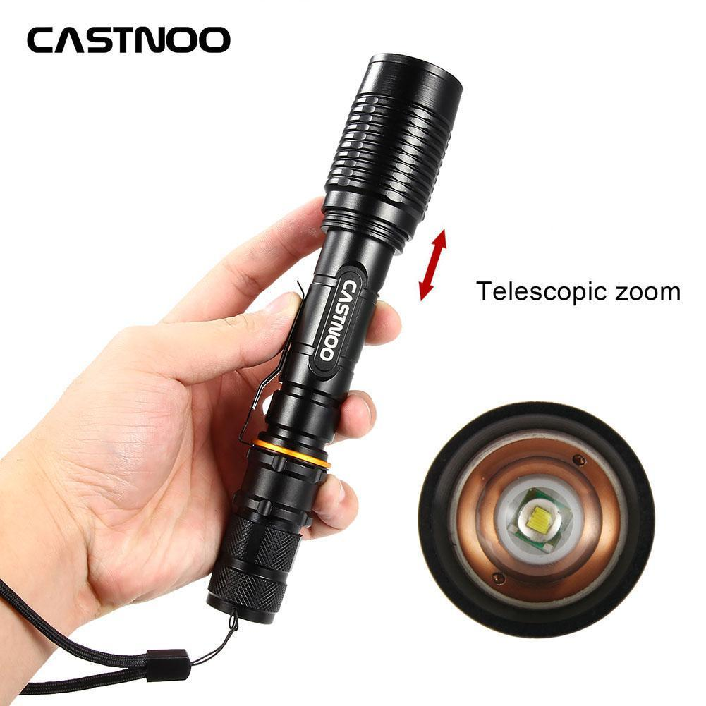 <font><b>60000LM</b></font> Flashlight Torch T6 <font><b>LED</b></font> 18650 Battery Zoomable Torch Lamp Light Rechargeable Flashlight T6 <font><b>LED</b></font> Flashlight image