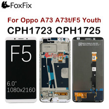 """Voor 6.0 """"Oppo F5 Lcd Touch Screen Digitizer Vergadering A73 A73t Voor Oppo F5 Lcd Met Frame CPH1723 CPH1725 Vervanging"""