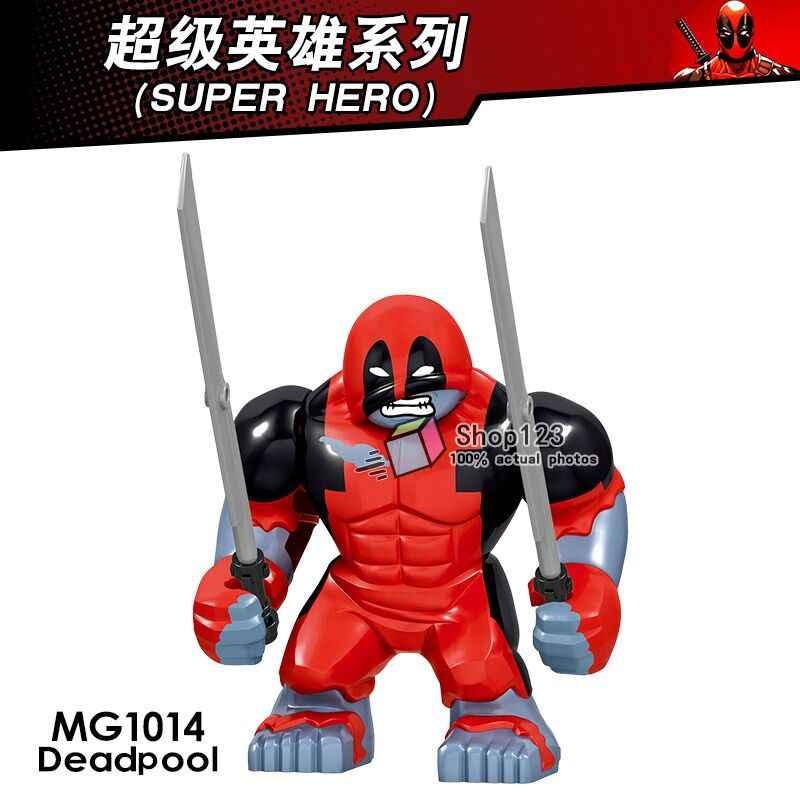เด็กเดียว Deadpool 2 Super Heroes Gwen-สระว่ายน้ำ Wade Wilson Domino Peter Santa Deadpool Building Blocks อิฐของเล่นเด็ก