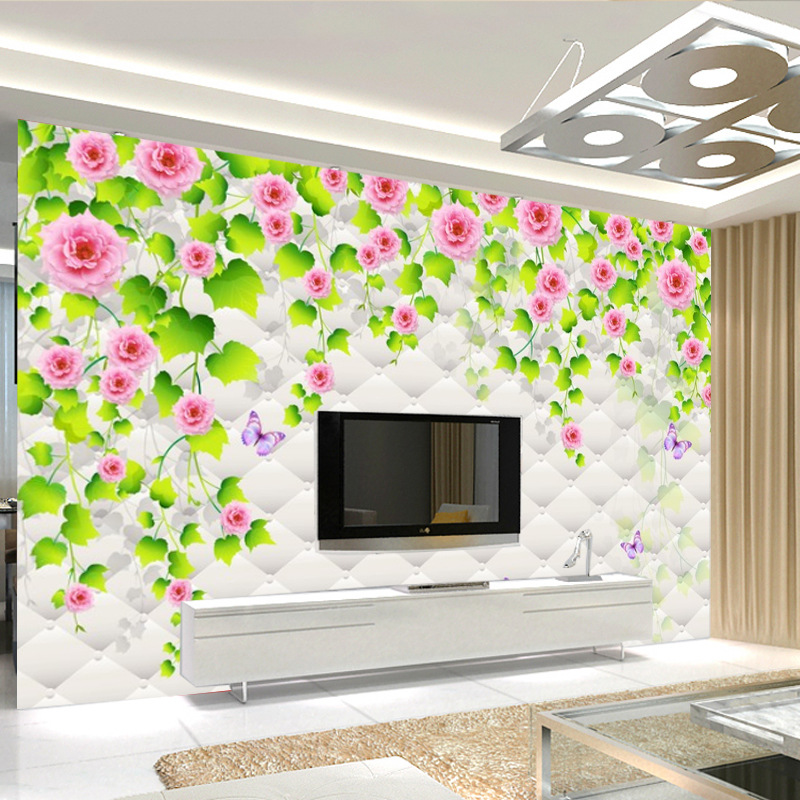 Seamless Large Mural 3D Wallpaper TV Backdrop Living Room Non-woven Wallpaper Mural