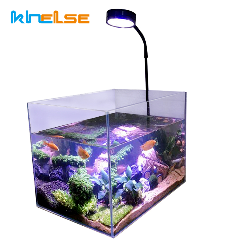 Mini LED Plant Grow Desk Lamp Indoor Wood Board Lights nano aquarium landscape water fish energy saving Seed fill Spot lighting(China)
