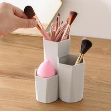 Makeup Nail Polish Organizers Pen Holder Rack Fashion Cosmetic Brush Storage Box