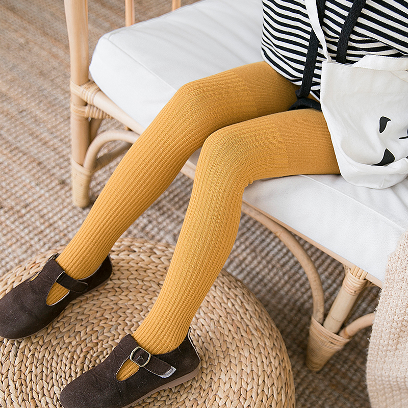 Spring Autumn 1-6y Baby Kids  Pantyhose Girls Tights Children's Dancing Cotton Stocking Double Needles Stripe