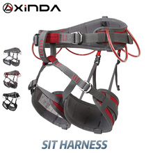 XINDA التخييم نصف حزام أمان تسلق الصخور في الهواء الطلق توسيع التدريب نصف الجسم تسخير واقية لوازم بقاء المعدات