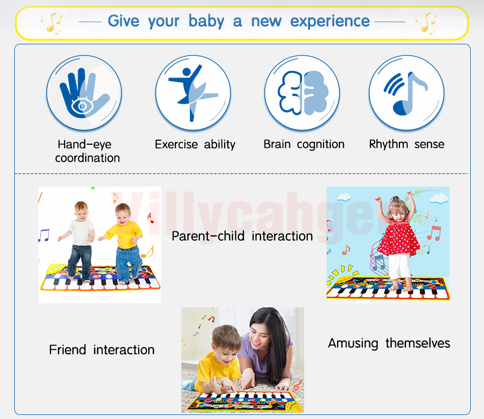 Hb23125df00b5473db944129d72268dd0C 110x36cm Musical Piano Mat Baby Play Mat Toy Musical Instrument Mat Game Carpet Music Toys Educational Toys for Kids Xmas Gift