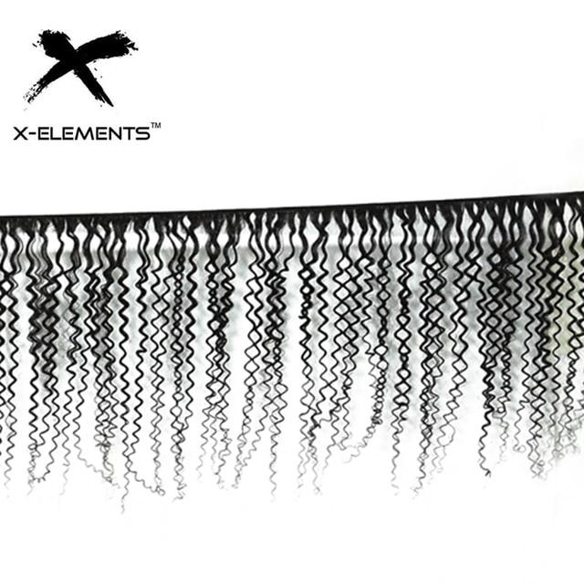 X-Elements Brazilian Kinky Curly Hair Bundles 1/3/4 Pcs Remy Human Hair Weave Bundles 8-28 Inch Natural Color Hair Extensions 2