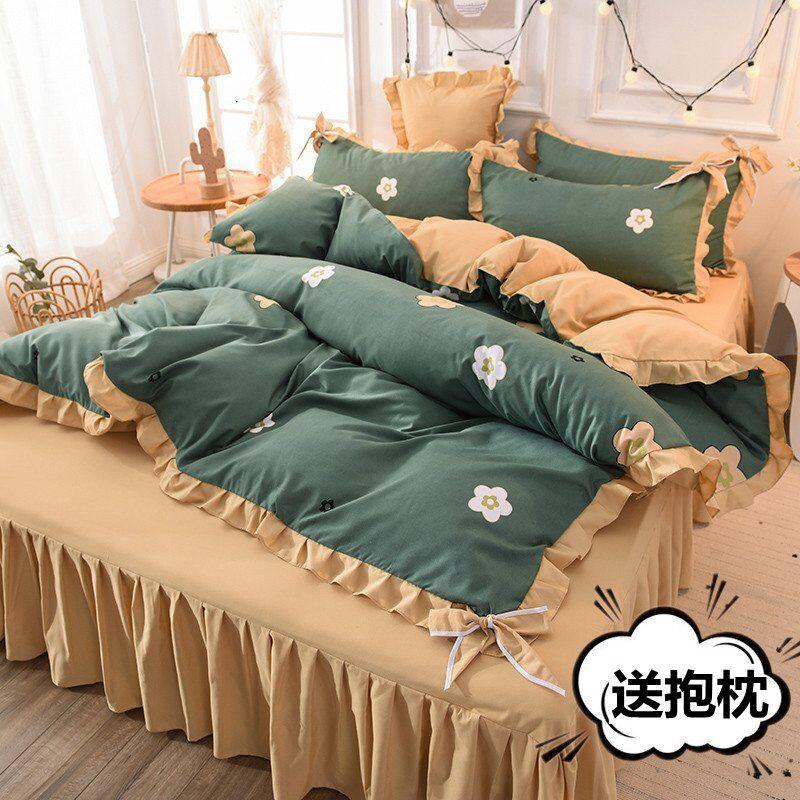 Скандинавское одеяло, комплекты постельного белья, домашний текстиль, комплекты постельного белья, хлопковые простыни, простыни, милые осе