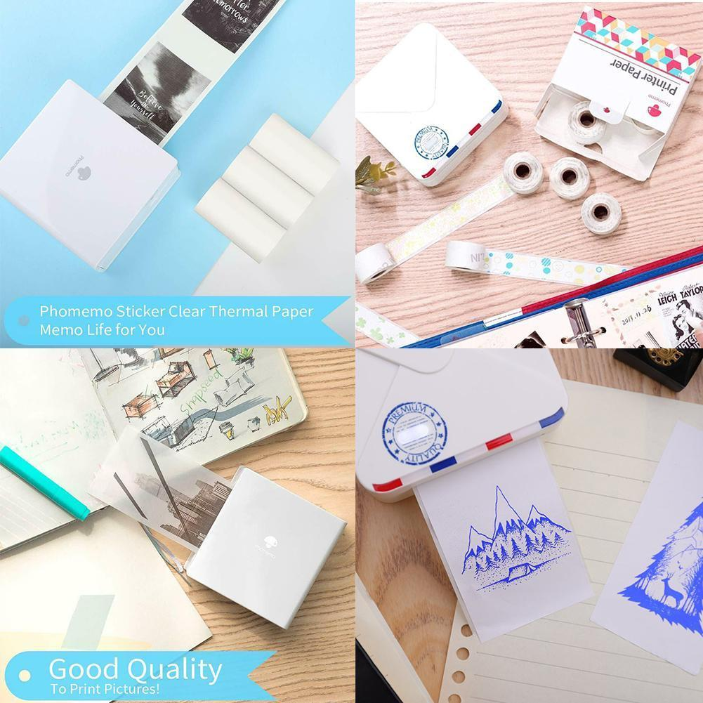 Universal Printing Paper Thermal Paper Pattern Sticker Sticker Thermal Self-Adhesive Papers Printable Label Paper T1L0