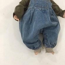 2020 summer Baby Romper children's soft strap loose denim pa