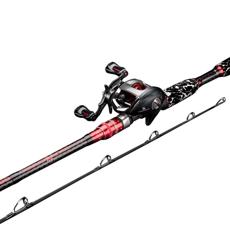 XH/H Fishing Rod 2.1m/2.28m/2.4m Distance Throwing Rod Carbon Fiber Superhard Ocean Lure Rod Fishing Rod Load-bearing 32KG