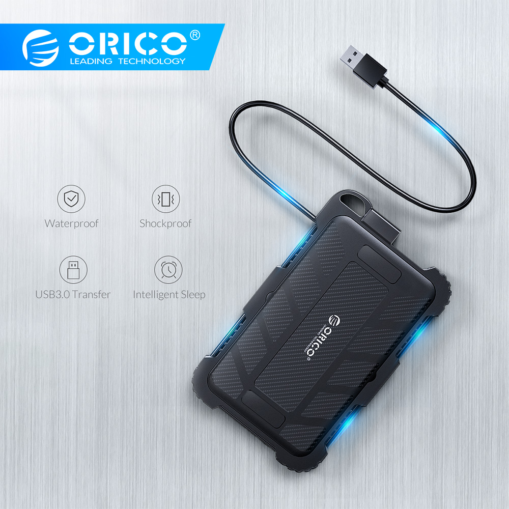 ORICO 2.5 Inch USB3.0 HDD Case For Outdoor Waterproof Shockproof Dustproof Triple Protection With Hook Hard Disk Box For HDD SSD