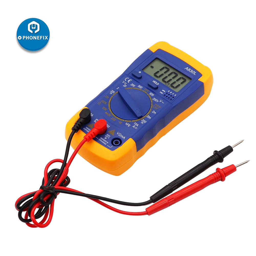 A830L Digital LCD Multimeter Voltmeter Ammeter DC AC OHM Volt Current Tester For Professions Factories  Schools Amateur Home Use