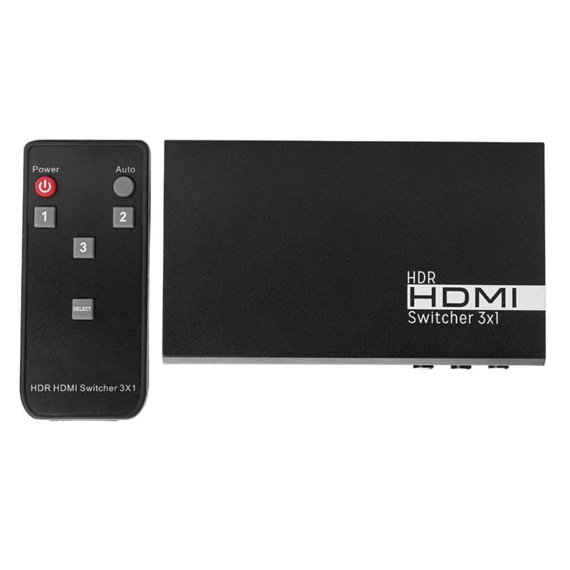 VK-S3 3 In 1 HDMI Switcher 1080P HD Splitter Box High Performance Compatible With Blu Ray DVD For Xbox PS3 With Remote Control