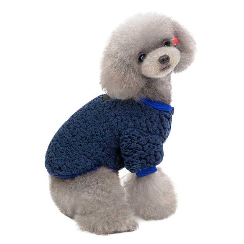 Vêtements pour chiens d'hiver veste en velours à 2 pattes pour chiens Ropa Perro vêtements en molleton bouledogue français pour Chihuahua Yorkie