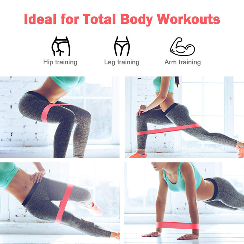 Yoga Resistance Rubber Bands Fitness Gum X-light to X-heavy Pilates Sport Training Workout Elastic Bands Fitness Equipment 6
