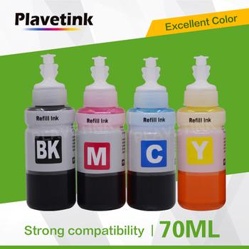 Plavetink 70ml butelka tusz do drukarki dla T6641 T6642 T6643 T6644 kartridż do epson EcoTank L1300 L850 L3050 L3060 L3070 L364 L382 tanie i dobre opinie For Epson Ink Refill Kit Zestaw wkładem For Epson Refill Ink For Epson L300 L301 L310 L312 L350 L351 L355 Printer Black Cyan Yellow Magenta