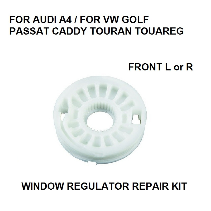 2x ROLLER / PULLEY FOR VW TOUAREG 2002 -2010 WINDOW REGULATOR REPAIR KIT LEFT Or RIGHT NEW