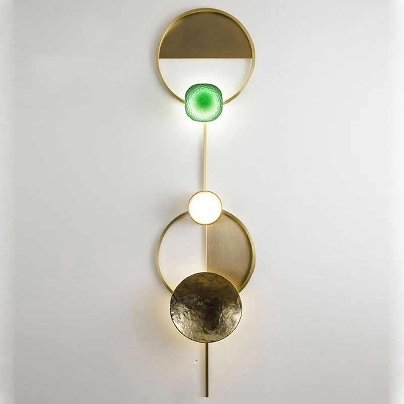 Стиль Пост Модерн, стеклянные настенная лампа светильник Nordic светодиодный бра для Ванная комната Спальня домашние осветительные приборы Кухня светильник E14