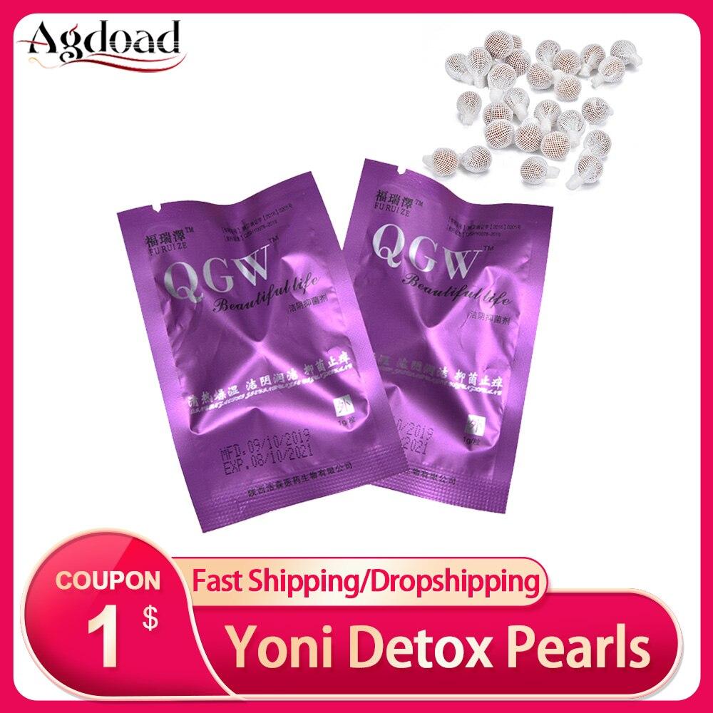 5/10/20 pièces Tampons Yoni Detox perles médecine écouvillon Tampons vaginaux traitement hygiène féminine produit propre Tampon beauté santé