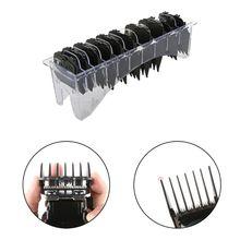 10 ピース/セットガイド制限櫛セットボックス電気バリカン切削工具キット黒、赤、青 + ベース