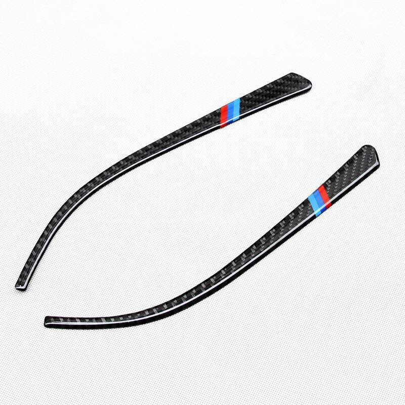 Accessories Side Mirror Strip For BMW F30 F34 F32 3 4 Series Replacement Auto Carbon Fiber Trim