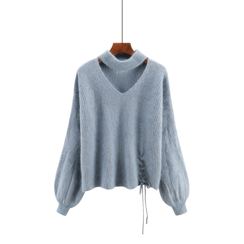 CHRLEISURE Women's Sweaters Winter V-neck Sexy Women's Knitted Jacket Trend Bandage Winter Clothes Women 5