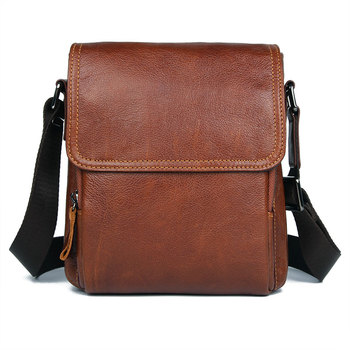Shoulder Bags Man 2019 Genuine Leather Travel Casual Fashion Men bags Business Crossbody Bag Male Bag Real Leather