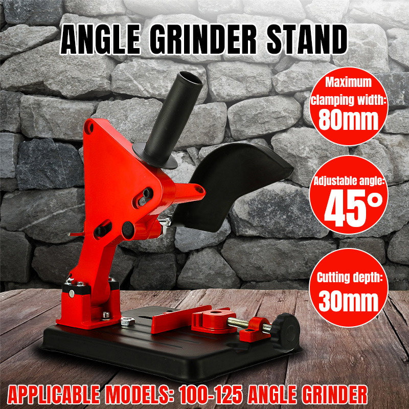 Angle Grinder Stand Bracket Holder Cutter Cast Iron Base Power Tool Accessory Support For 100-125 Cutter Angle Grinder