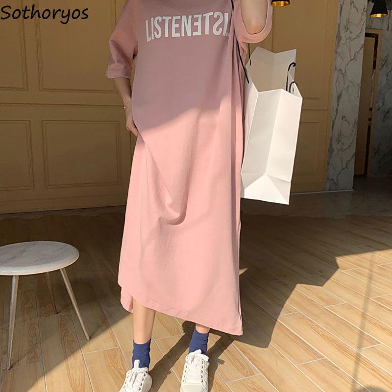 Nightgowns Women Sleepwear Letter Printed Womens Elegant Breathable Korean Style Comfortable O-neck Short Sleeve Plus Size 3XL