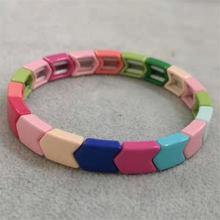 Shinus Tile Bracelet Women Rainbow Arrow Beads Bracelets 2020 Hot Bohemian Pulseras Boho Colorful Fashion Jewelry Summer