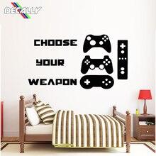 Наклейка на стену для геймера, видеоигры, наклейка на стену, контроллер, наклейка на стену для игровой комнаты, художественное украшение дома