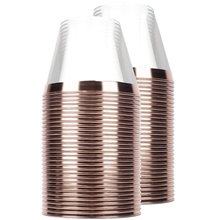 60 штук пластиковые чашки из розового золота прозрачные 9 унций