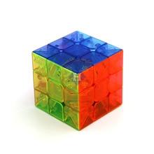 Обучающий прозрачный трехслойный Кубик Рубика 5,6 см для соревнований, гладкое вращение, стандартный трехслойный Кубик Рубика