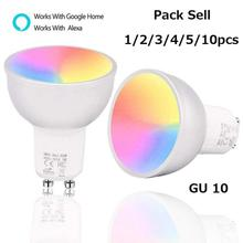 Light-Control Smart-Lamp Wifi Dimmable Alexa/google Gu10-Bulb with Work Brightness by